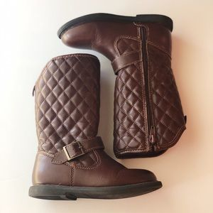 Girls Brown Leather Boots - Carter's